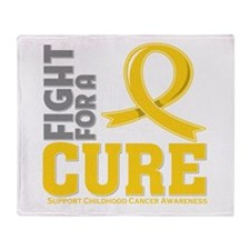 Childhood Cancer Fight Throw Blanket