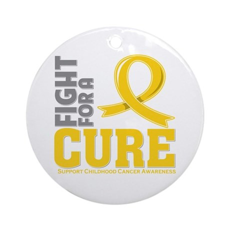 Childhood Cancer Fight Ornament (Round)