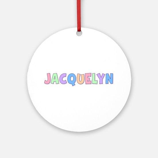Jacquelyn Rainbow Pastel Round Ornament