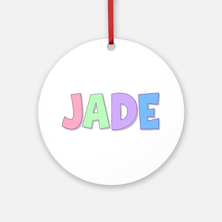 Jade Rainbow Pastel Round Ornament