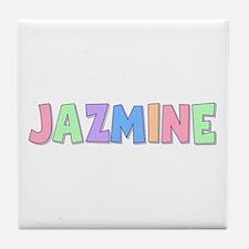 Jazmine Rainbow Pastel Tile Coaster