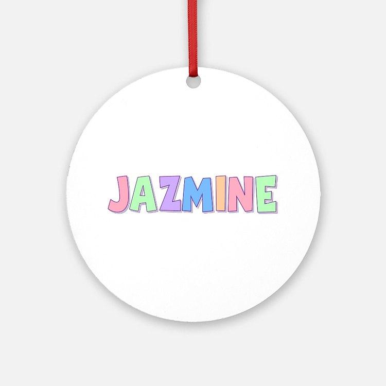 Jazmine Rainbow Pastel Round Ornament