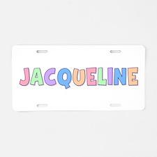 Jacqueline Rainbow Pastel Aluminum License Plate