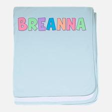 Breanna Rainbow Pastel baby blanket
