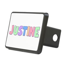Justine Rainbow Pastel Hitch Cover
