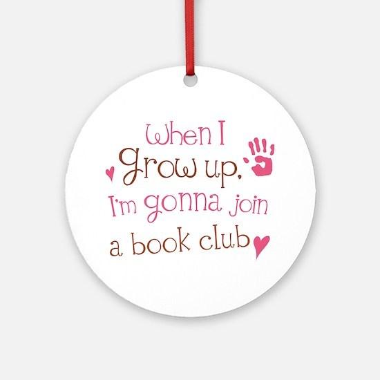 Kids Book Club Ornament (Round)
