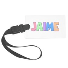 Jaime Rainbow Pastel Luggage Tag