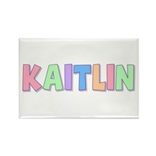 Kaitlin Rainbow Pastel Rectangle Magnet