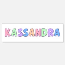 Kassandra Rainbow Pastel Bumper Car Car Sticker