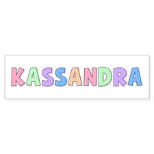 Kassandra Rainbow Pastel Bumper Car Sticker