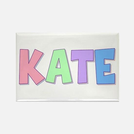 Kate Rainbow Pastel Rectangle Magnet