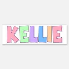 Kellie Rainbow Pastel Bumper Car Car Sticker