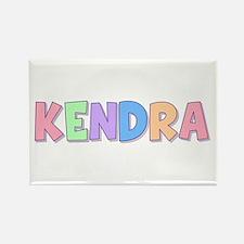 Kendra Rainbow Pastel Rectangle Magnet