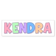 Kendra Rainbow Pastel Bumper Bumper Sticker