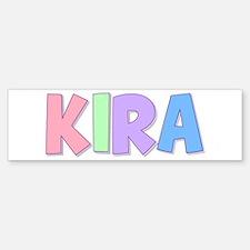 Kira Rainbow Pastel Bumper Bumper Bumper Sticker