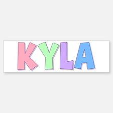 Kyla Rainbow Pastel Bumper Bumper Bumper Sticker