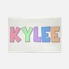 Kylee Rainbow Pastel Rectangle Magnet