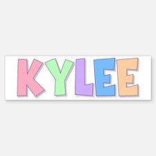 Kylee Rainbow Pastel Bumper Bumper Bumper Sticker