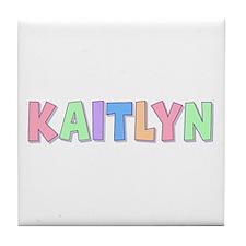 Kaitlyn Rainbow Pastel Tile Coaster