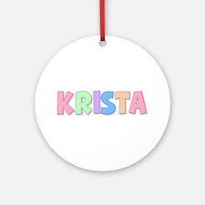 Krista Rainbow Pastel Round Ornament