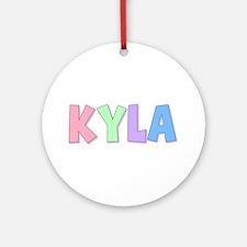 Kyla Rainbow Pastel Round Ornament