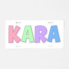 Kara Rainbow Pastel Aluminum License Plate