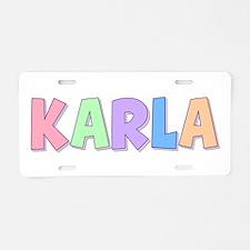 Karla Rainbow Pastel Aluminum License Plate