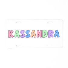 Kassandra Rainbow Pastel Aluminum License Plate