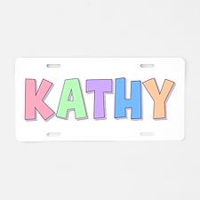 Kathy Rainbow Pastel Aluminum License Plate