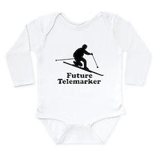 Cute Skiing kids Long Sleeve Infant Bodysuit
