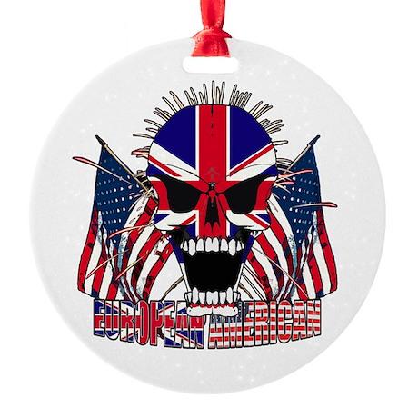 European American Round Ornament