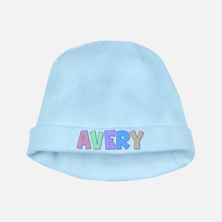 Avery Rainbow Pastel baby hat