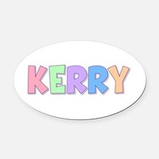 Kerry Rainbow Pastel Oval Car Magnet