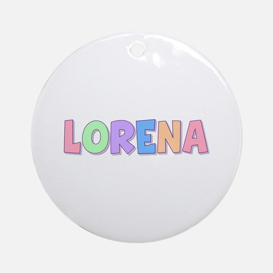 Lorena Rainbow Pastel Round Ornament