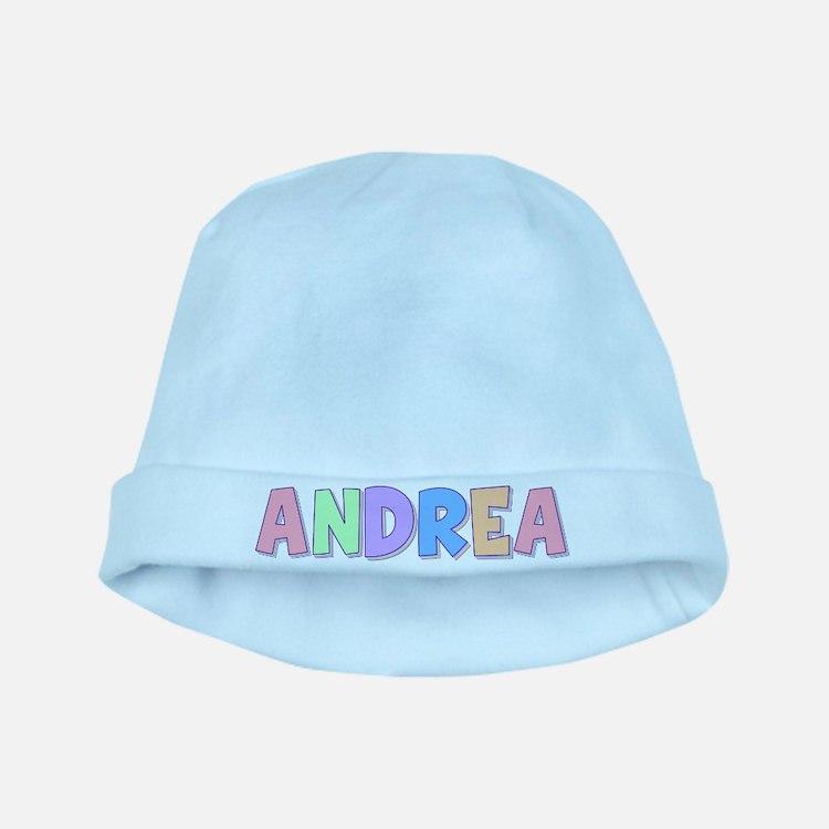 Andrea Rainbow Pastel baby hat