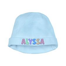 Alyssa Rainbow Pastel baby hat