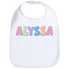 Alyssa Rainbow Pastel Bib