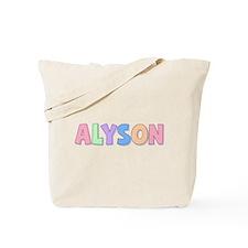 Alyson Rainbow Pastel Tote Bag