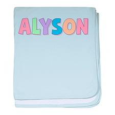 Alyson Rainbow Pastel baby blanket