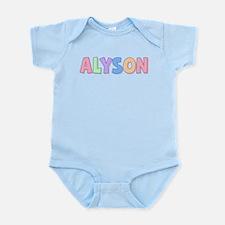 Alyson Rainbow Pastel Infant Bodysuit