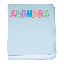 Alondra Rainbow Pastel baby blanket
