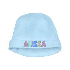 Alissa Rainbow Pastel baby hat