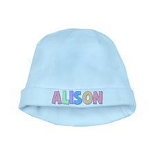 Alison Rainbow Pastel baby hat