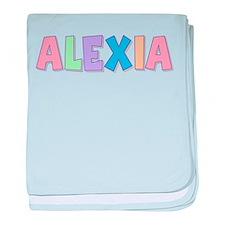 Alexia Rainbow Pastel baby blanket