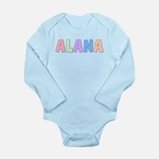 Alana Rainbow Pastel Long Sleeve Infant Bodysuit