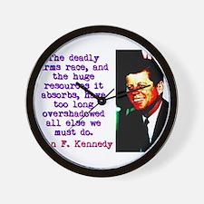 The Deadly Arms Race - John Kennedy Wall Clock