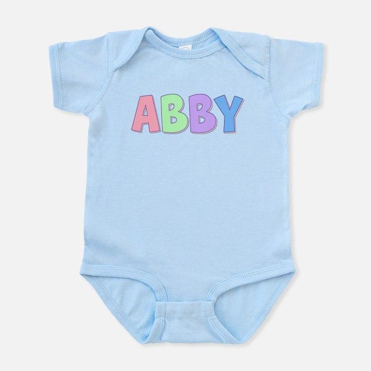 Abby Rainbow Pastel Infant Bodysuit