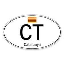 Car code Catalonia Decal