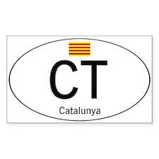 Car code Catalonia Decal