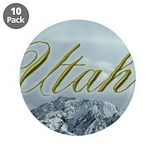 "Utah Mountain Souvenir 3.5"" Button (10 pack)"
